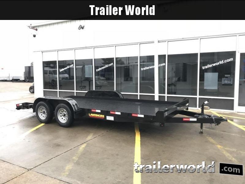 2019 Lawrimore 18 Steel Deck Car Hauler Deluxe Trailer
