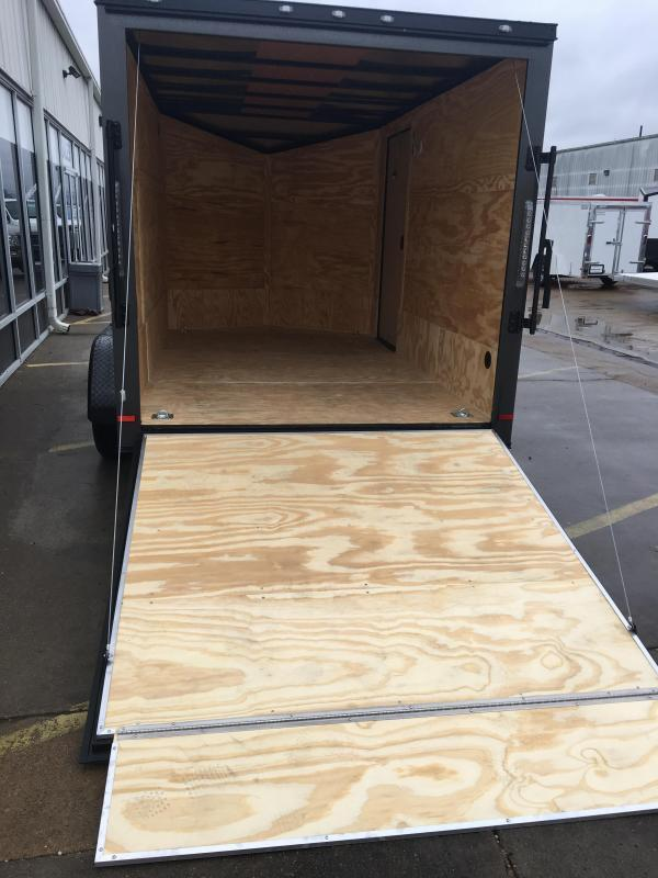 2019 CW 7' x 12' x 6.5' Vnose Enclosed Cargo Trailer BLACK OUT