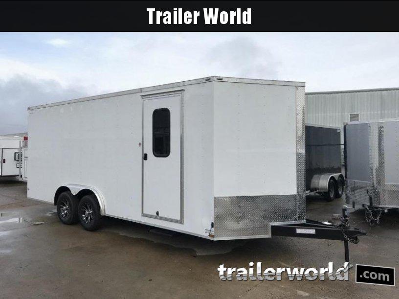 2018 Lark 8 x 20 Vnose Car / ATV Trailer