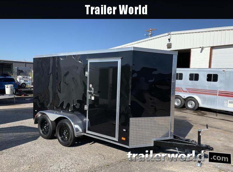 "2020 CW 6' x 12' x 6'3"" Tandem V-Nose Ramp Door Trailer"