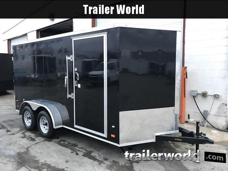 "2019 CW 7' x 14' x 6'6"" Vnose Enclosed Trailer Double Doors"