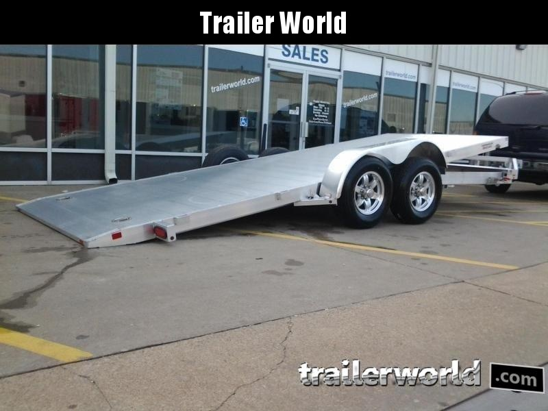 2019 Aluma 8220H Tilt Bed Aluminum Open Car Hauler Trailer 10k GVWR