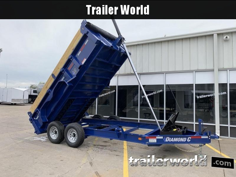 2019 Diamond C 24LPT 14' Telescopic Dump Trailer Low Profile