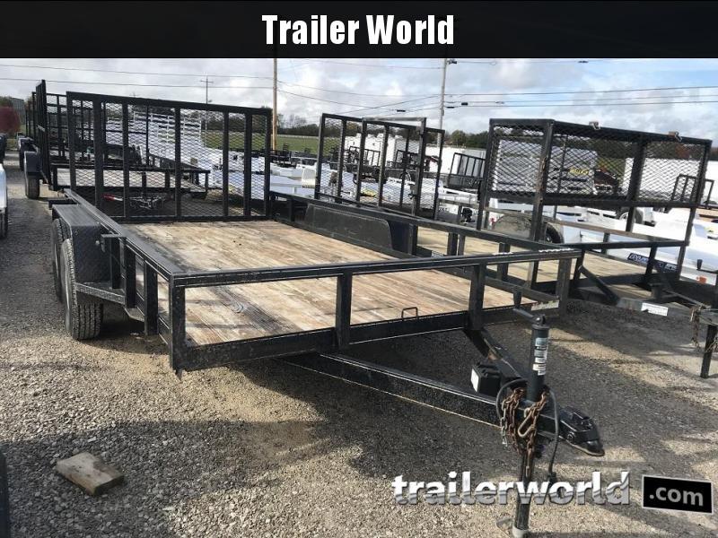 2011 Lone Wolf 14' Tandem Axle Utility Trailer