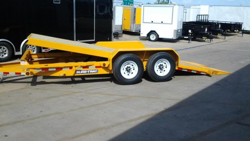 2017 Sure-Trac 18' Tilt Bed 14k GVWR Equipment Trailers