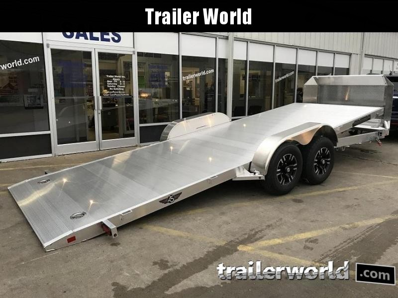 2020 Aluma 8220H Anniversary Edition Aluminum Tilt Bed Open Car Hauler Trailer 10k GVWR