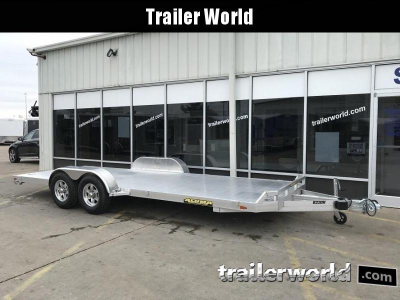 2020 Aluma 8222HB 22' Aluminum Open Car Hauler Trailer