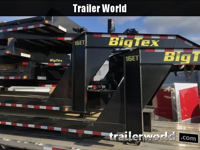 2018 Big Tex NEW MODEL 16ET-24'  Low Profile Gooseneck Trailer 8 Ton
