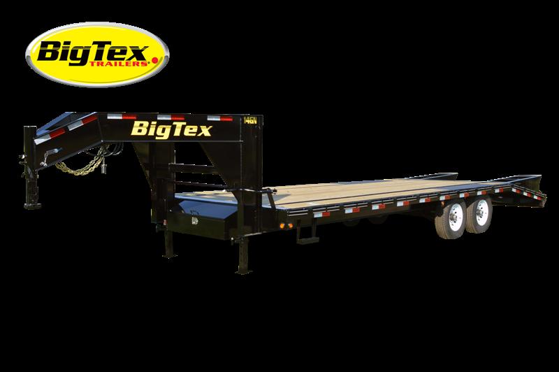 2017 Big Tex Trailers 14GN-25' + 5' Flatbed Equipment Trailer MEGA RAMPS