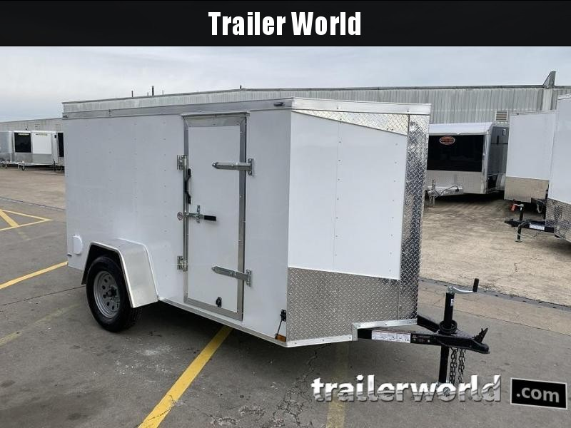 2019 Lark 5' x 10' x 5' Cargo Vnose Ramp Door Trailer
