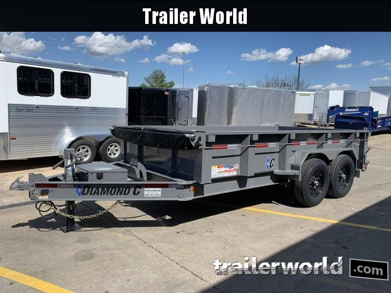 2019 Diamond C LPD 14' Dump Trailer