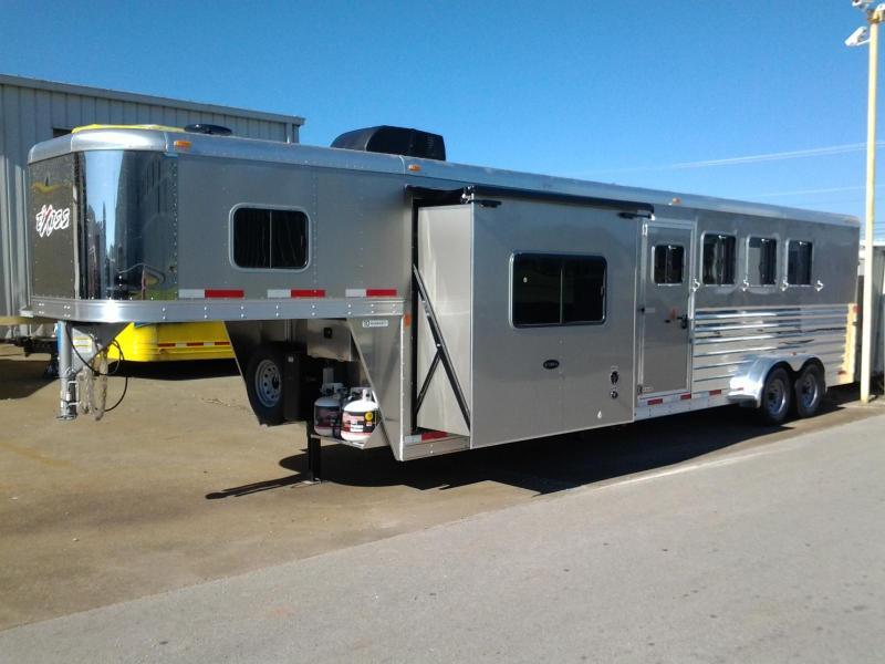 2015 Exiss 7410LQ w/ Slide-out 4 Horse Trailer