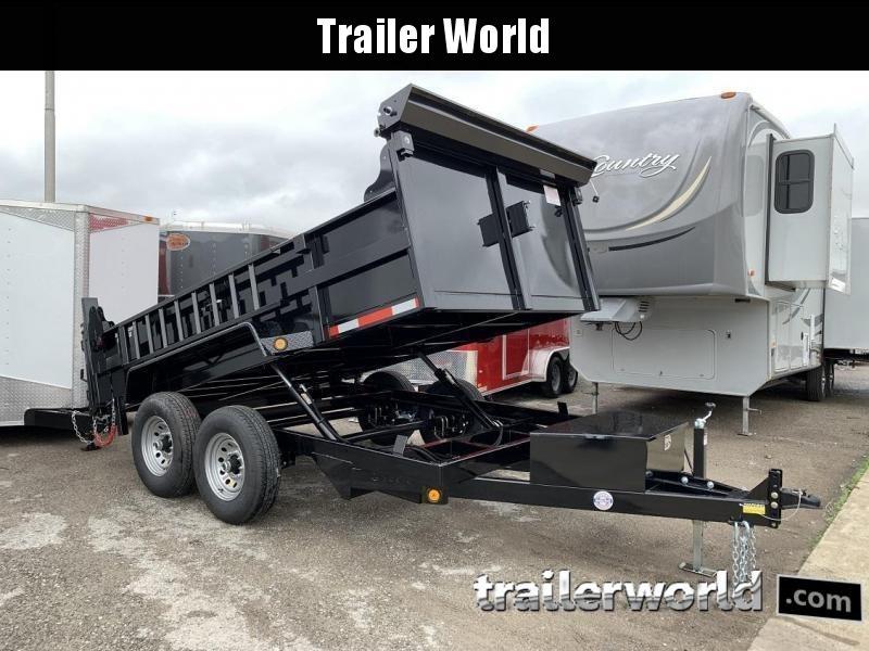 2020 QS 12' Dump Trailer 12K GVWR w/ Ramps & Tarp