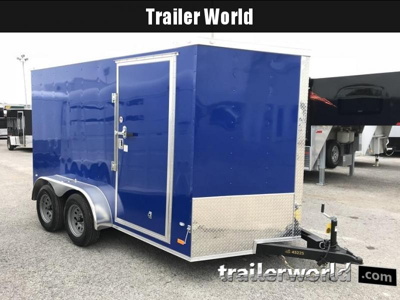 "2019 CW 7' x 12' x 6'6"" Vnose Enclosed Cargo Trailer"