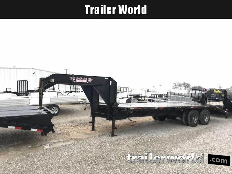 2007 J-J-N  25' Gooseneck Equipment Trailer 10 Ton