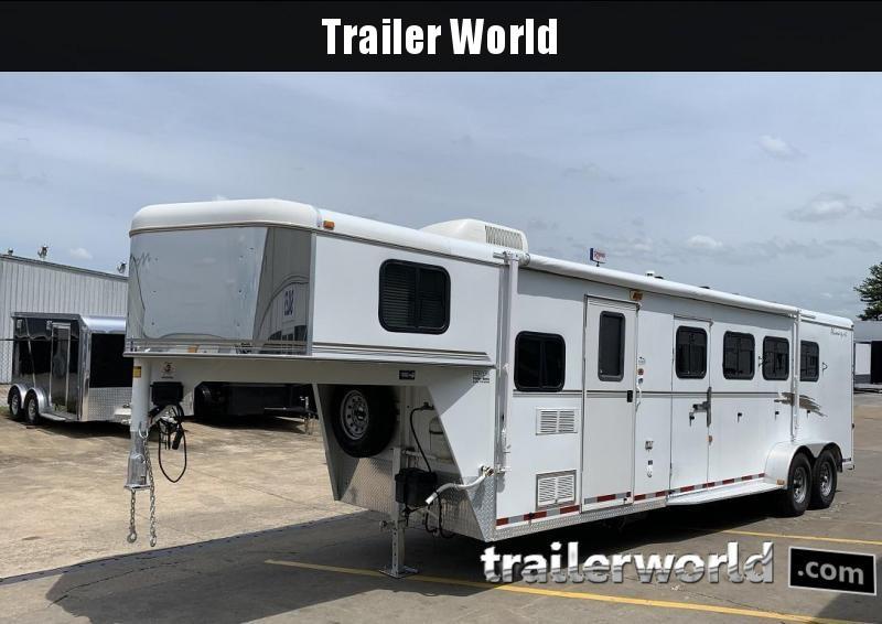 2002 Bison Aluma Sport 8 Living Quarters 4 Horse Trailer