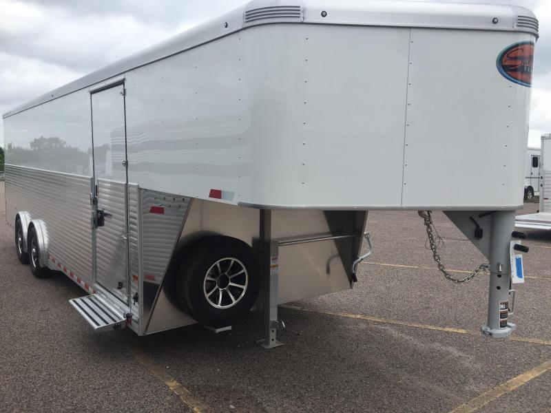 2018 Sundowner 32' Aluminum Gooseneck Cargo Trailer Spread Axles