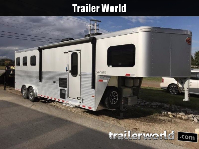 2018 Sundowner Santa Fe Living Quarters 3 Horse Trailer