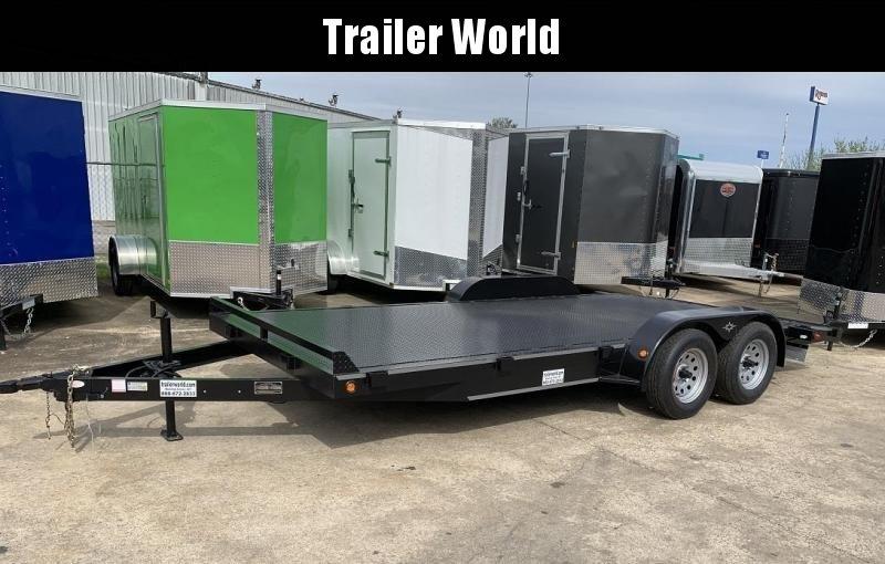 2019 B-B 20' Steel Deck Open Car Flatbed Trailer