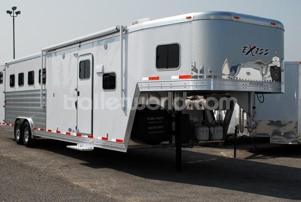 2014 Exiss 4 Horse 8' w 10' Living Quarters Trailer