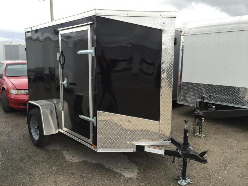 2016 Lark 5' x 6' x 5.5' Vnose Enclosed Cargo Trailer w/ Ramp Door
