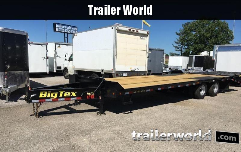 2017 Big Tex 22PH-20 + 5 Pintle Hitch Equipment Trailer MEGA Ramps