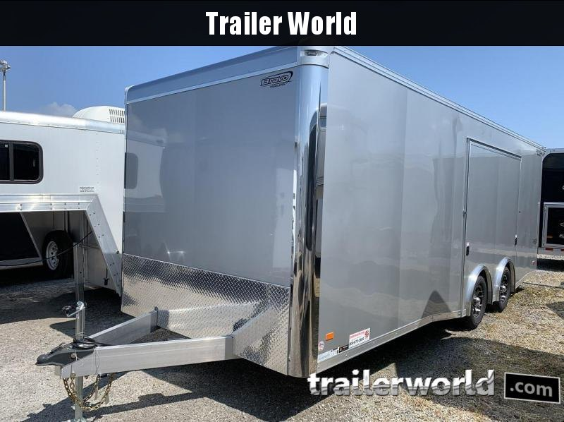 2020 Bravo Star 22' Aluminum Enclosed Car Trailer w Full Access Door