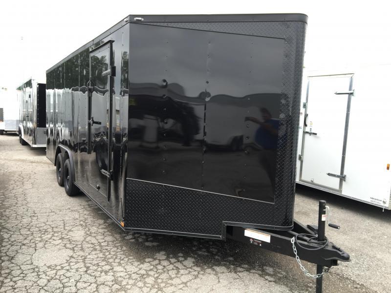 2016 Lark 20' Vnose Enclosed Car Trailer Black Out Pkg