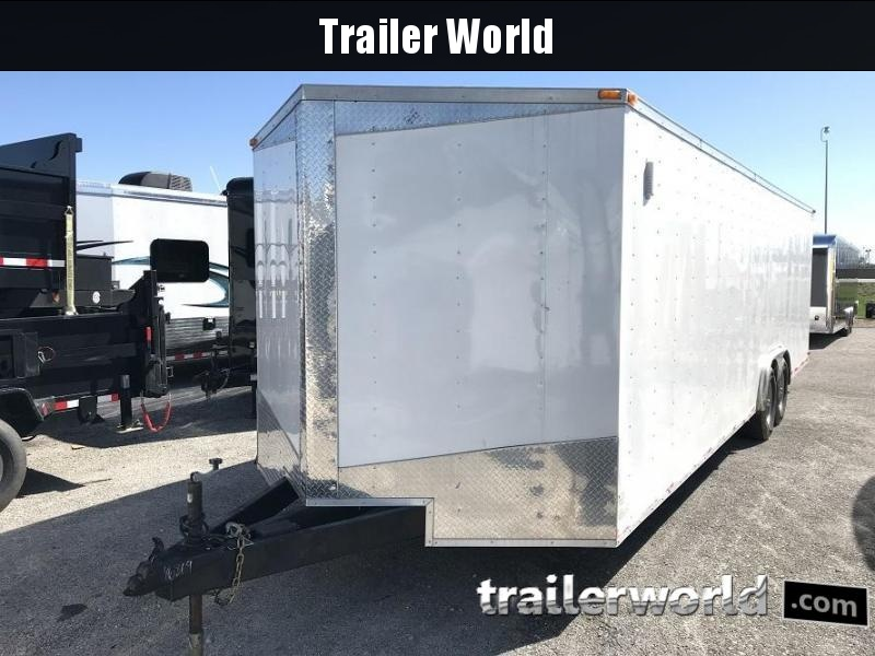 2015 Lark 28'  Vnose Enclosed Car Trailer 14K GVWR