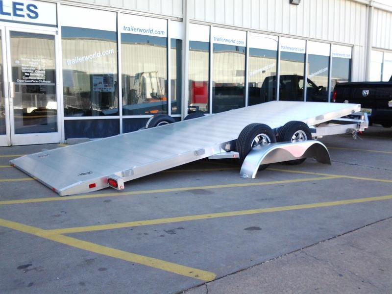 2016 Aluma 19.5' Aluminum Tilt Bed Open Car Hauler Trailer 7k GVWR