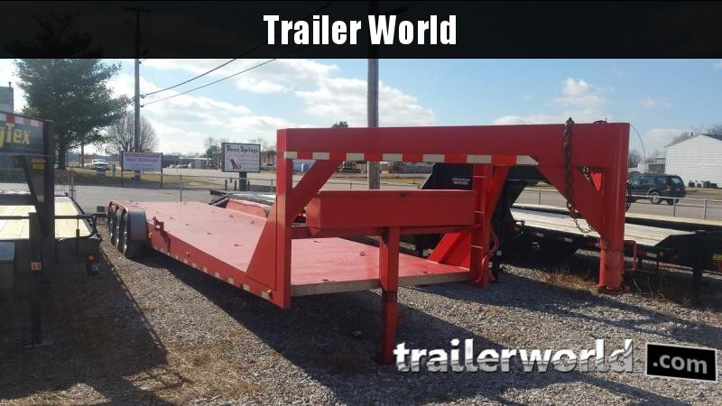 2007 Imperial 2 Car Open Gooseneck Trailer