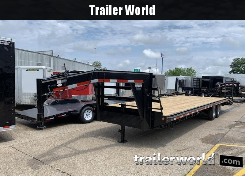 2019 Better Built 25' + 5'  7 Ton Gooseneck Flatbed Trailer