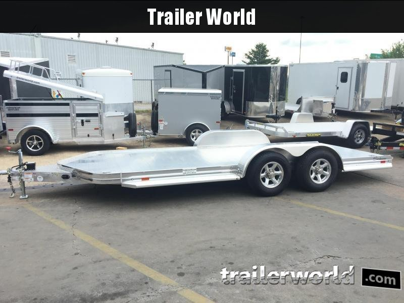 2017 Sundowner Aluminum Open Car Hauler Trailer Tapered Front