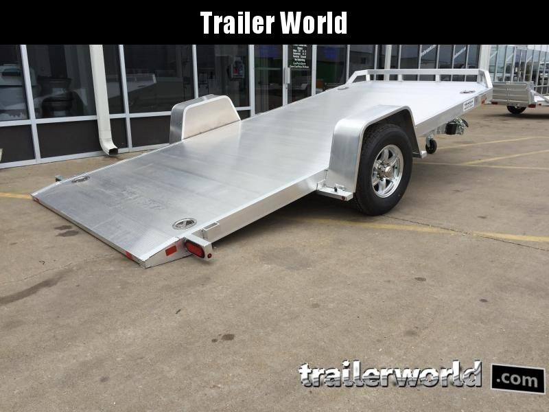 2020 Aluma 8214HS 14' Single Axle Aluminum TILT Open Car Hauler Trailer