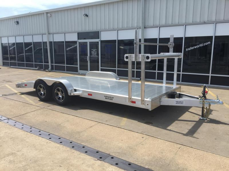 2016 Trailer World 18' Aluminum Open Car Hauler w/ Tire Rack