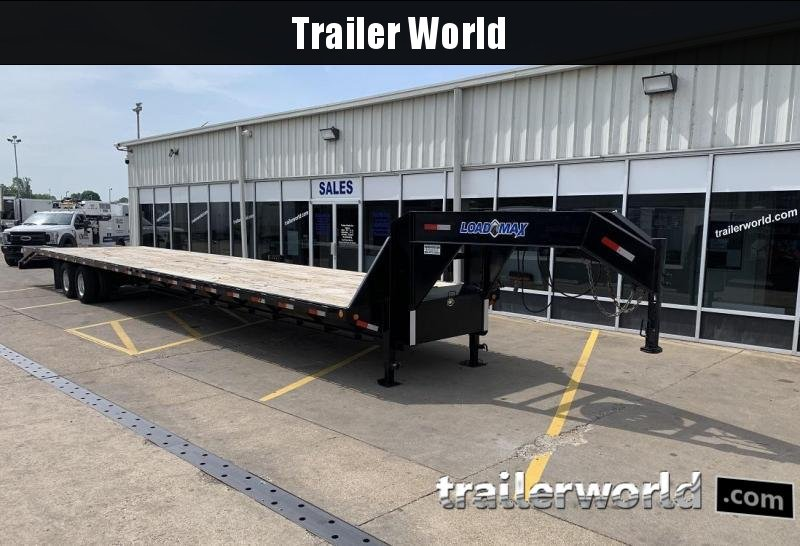 2013 Load Max 44' Gooseneck Flatbed Equipment Trailer