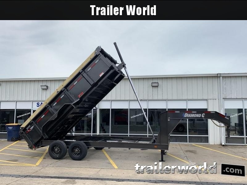 2019 Diamond C LPT 16' SUPER Gooseneck Dump Trailer Low Profile Commercial Grade 20k GVWR