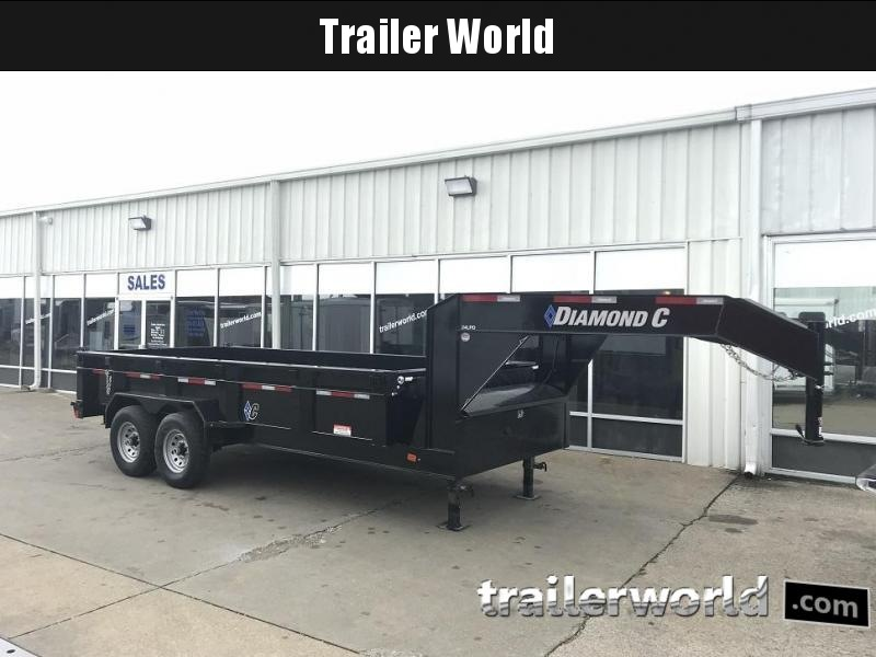 2018 Diamond C 24LPD 16' Gooseneck Dump Trailer Low Profile Commercial Grade