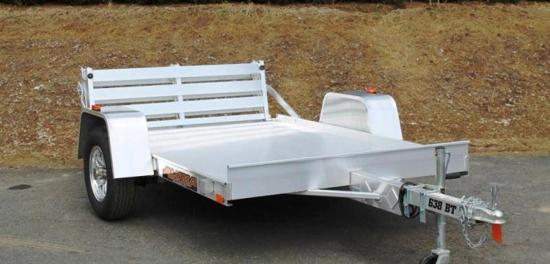 2015 Aluma 638BT 5' x 8'  Aluminum Utility Trailer Bi-Fold Gate & Side Rack