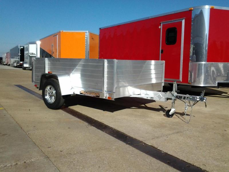 2015 Aluma 638BT 5' x 8'  Aluminum Utility Trailer Bi-Fold Gate & Side Rack