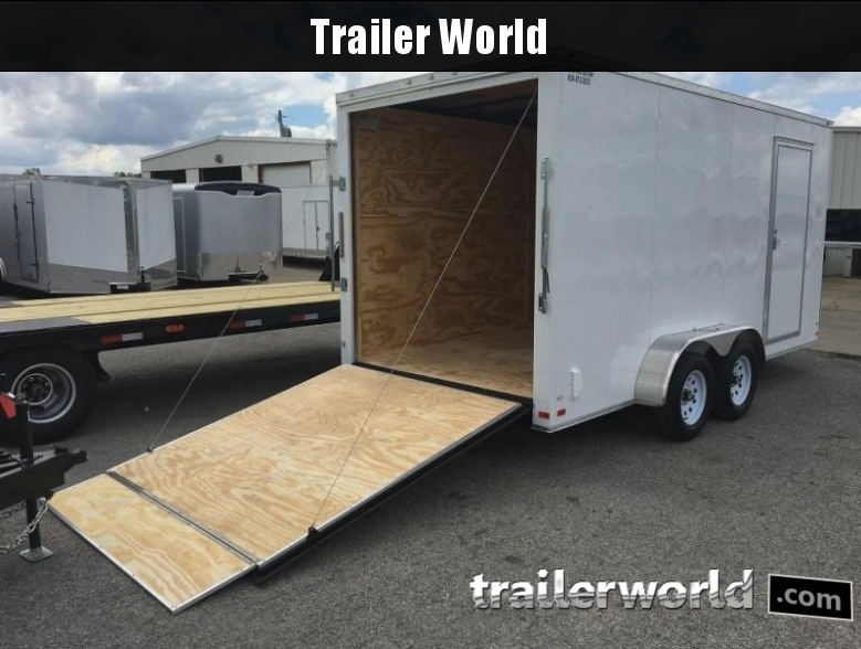 2018 CW 7' x 16' x 7' Vnose Enclosed Cargo Trailer Ramp Door