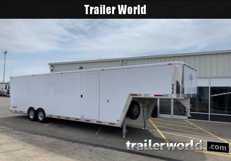 2003 Exiss Mach 10 Aluminum 36' Gooseneck Enclosed Car / Race Trailer