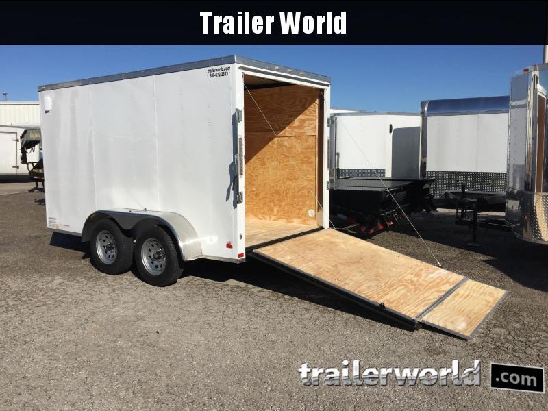 2019 CW 6' x 12' x 6.5 Tandem Cargo V-Nose Ramp Door Trailer