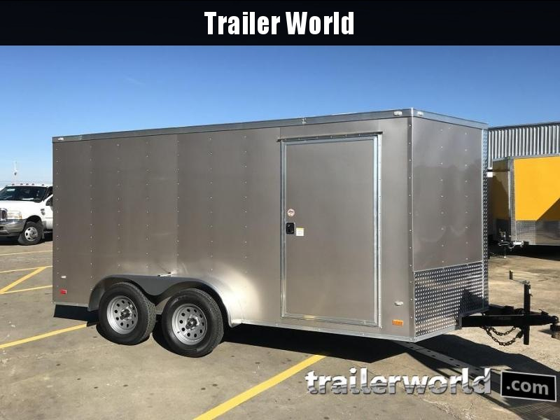 "2019 CW 7' x 14' x 6'3"" Vnose Enclosed Trailer Ramp Door"