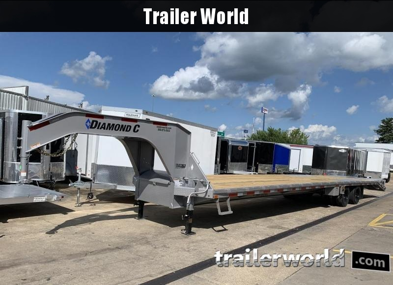 2019 Diamond C FMAX212 40' Gooseneck Flatbed Trailer DISC Brakes