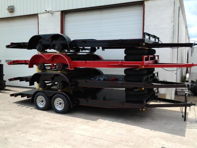 2014 P and T  18' Steel Deck Open Car Hauler Trailer