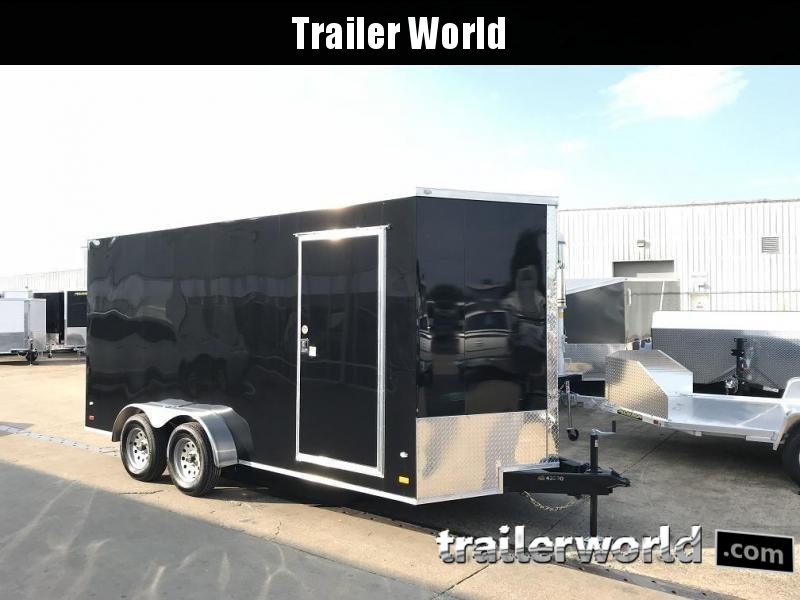 2019 CW 7' x 16' x 7' Vnose Enclosed Cargo Trailer