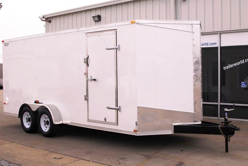 2014 Lark 7' x 16' x 7' Enclosed Cargo Trailer Ramp 10K GVWR
