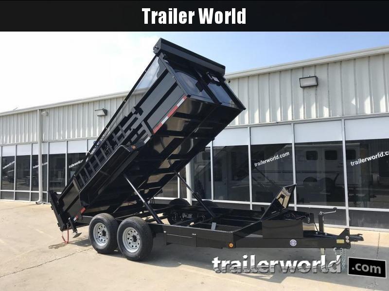 2020 QS 14' Dump Trailer 14K GVWR w/ Ramps w/ Tarp