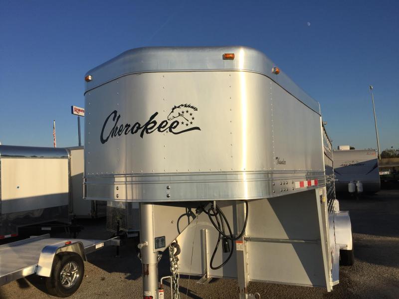 2010 Cherokee 16' Thunder Aluminum Stock Trailer
